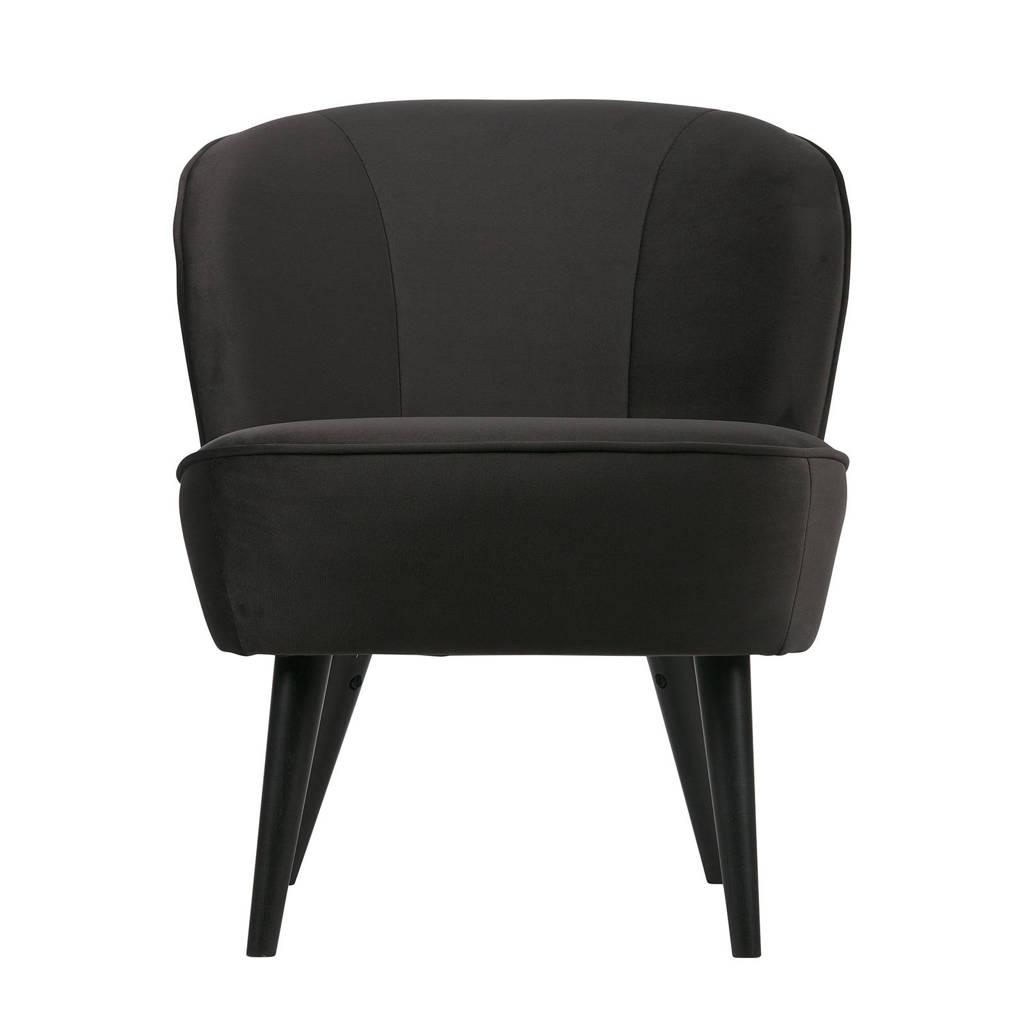 Woood fauteuil Sara velours Sara, Antraciet