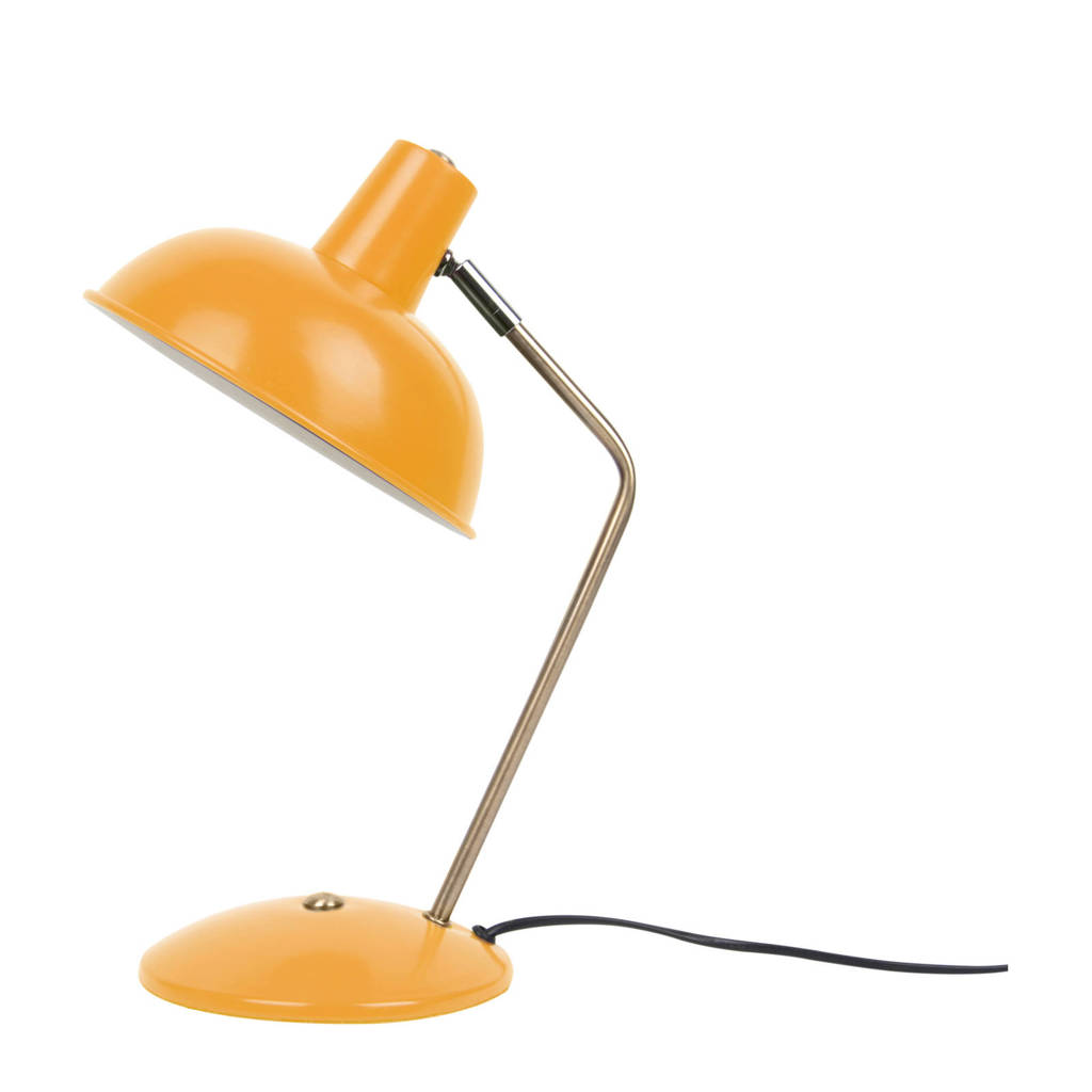 Leitmotiv bureaulamp Hood, curry geel