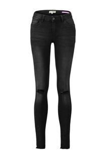 CoolCat skinny jeans met all over verfspatten zwart (dames)