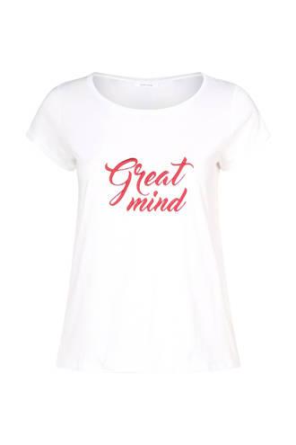 T-shirt met tekstprint wit