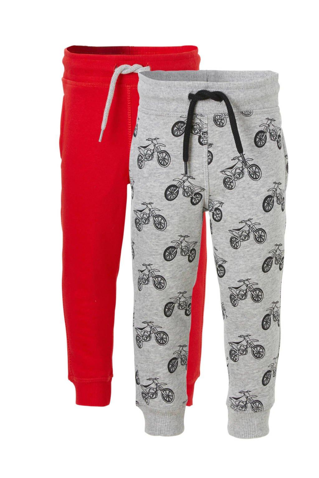 C&A Palomino   joggingbroek - set van 2, Grijs/rood