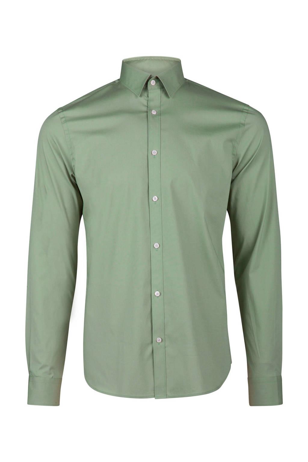Overhemd Mintgroen.We Fashion Slim Fit Overhemd Wehkamp