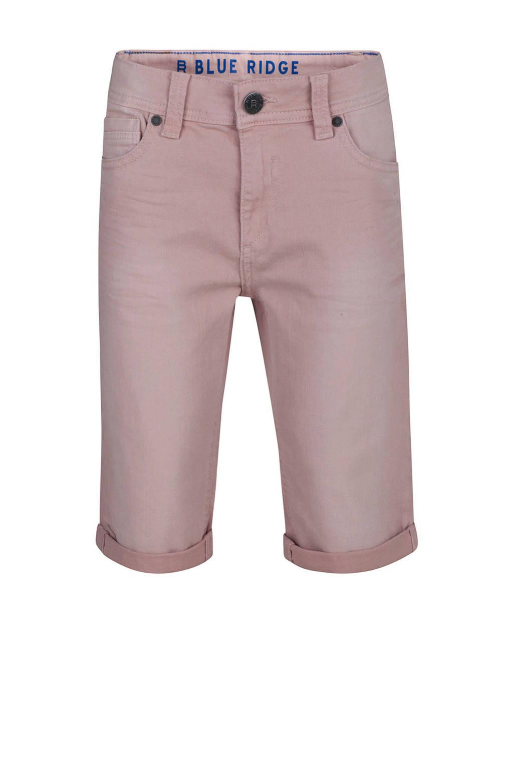 WE Fashion straight fit jeans bermuda, Lichtroze