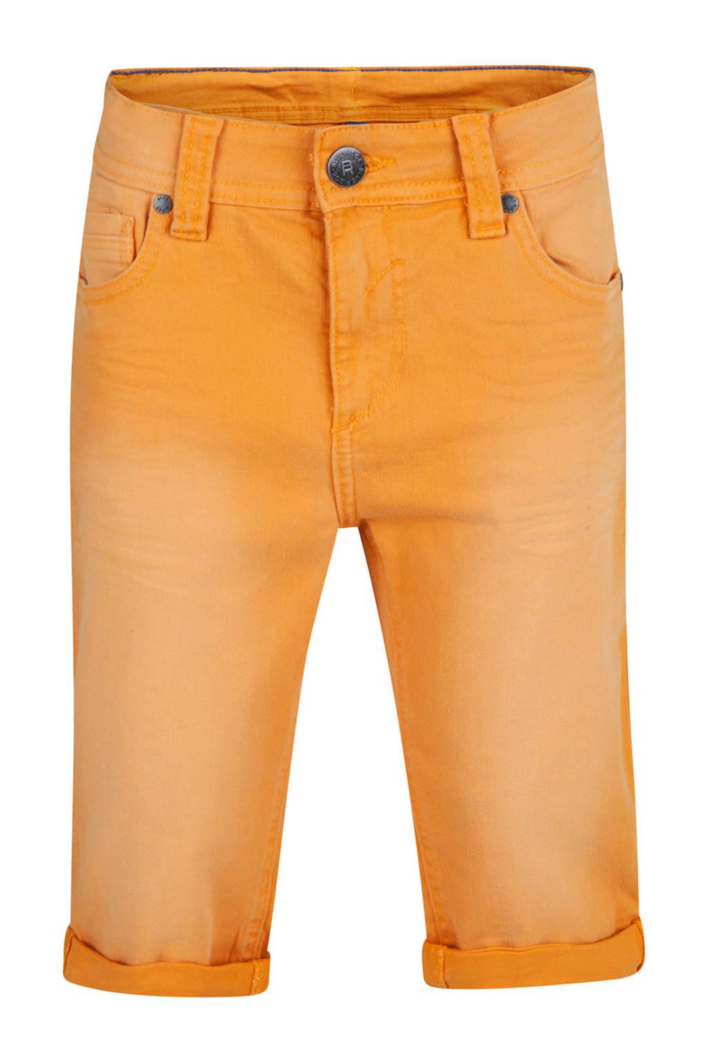 WE Fashion straight fit jeans bermuda, Oranje