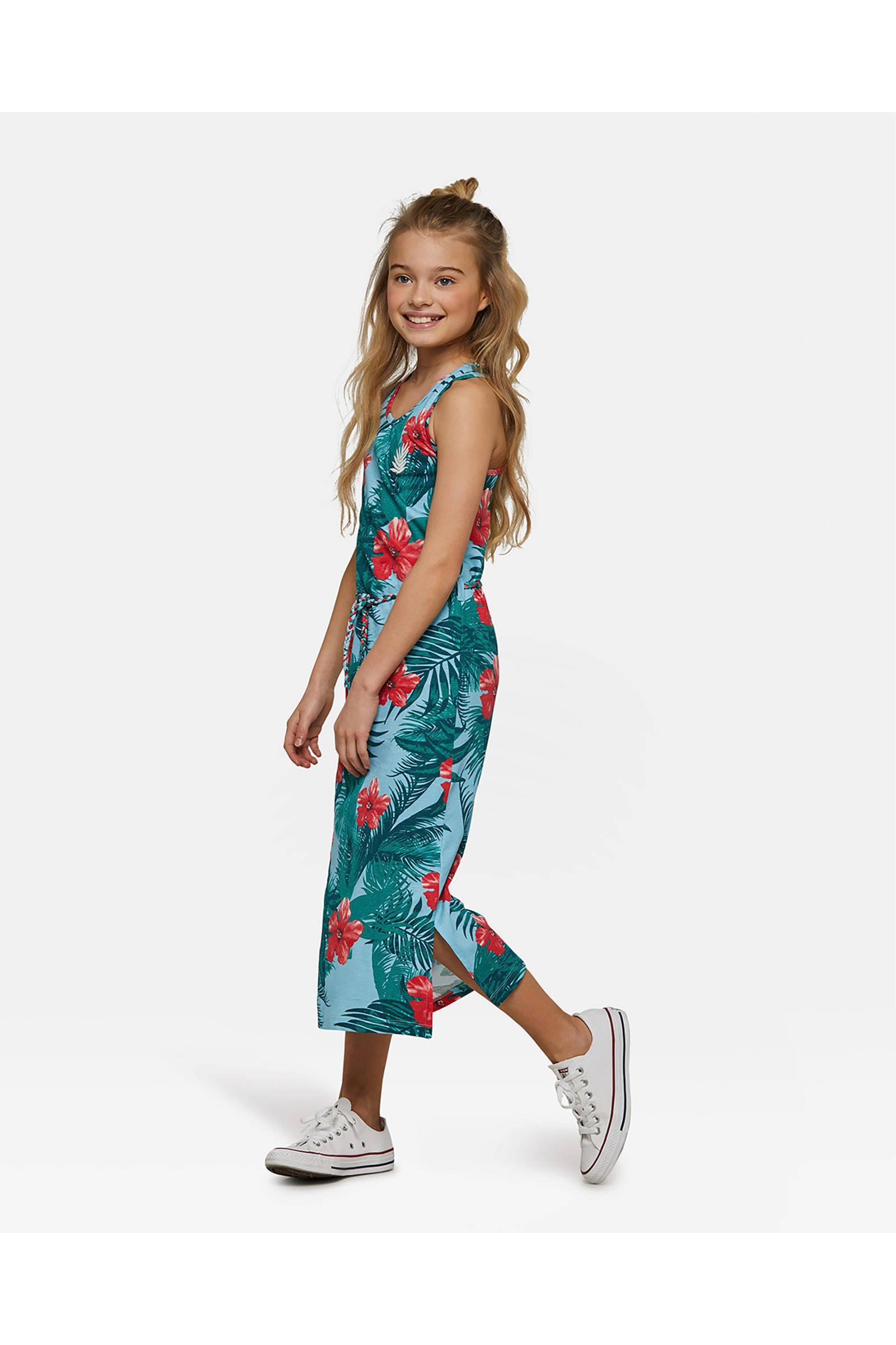 d3ec284ebcb3a4 WE Fashion maxi jurk met bloemen dessin blauw