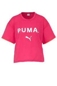 Puma / Puma T-shirt met printopdruk roze/paars