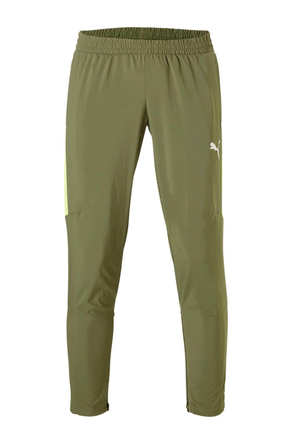 Puma   7/8 sportbroek groen, Groen/geel
