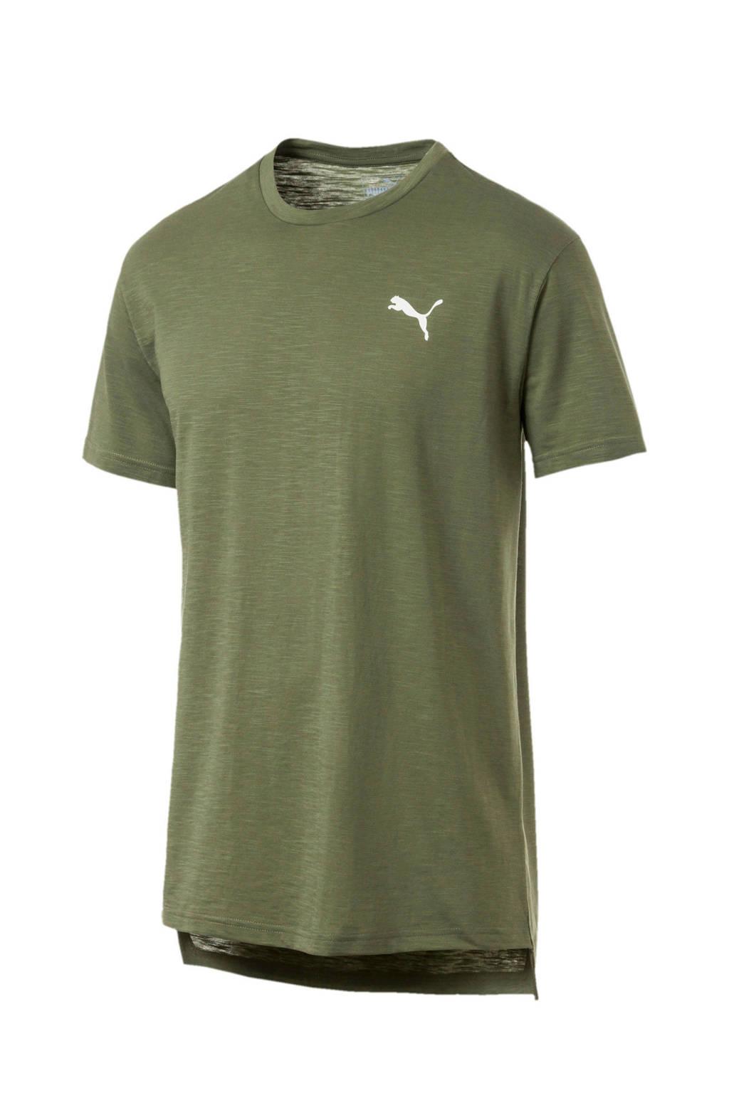 Puma   sport T-shirt olijfgroen, Olijfgroen