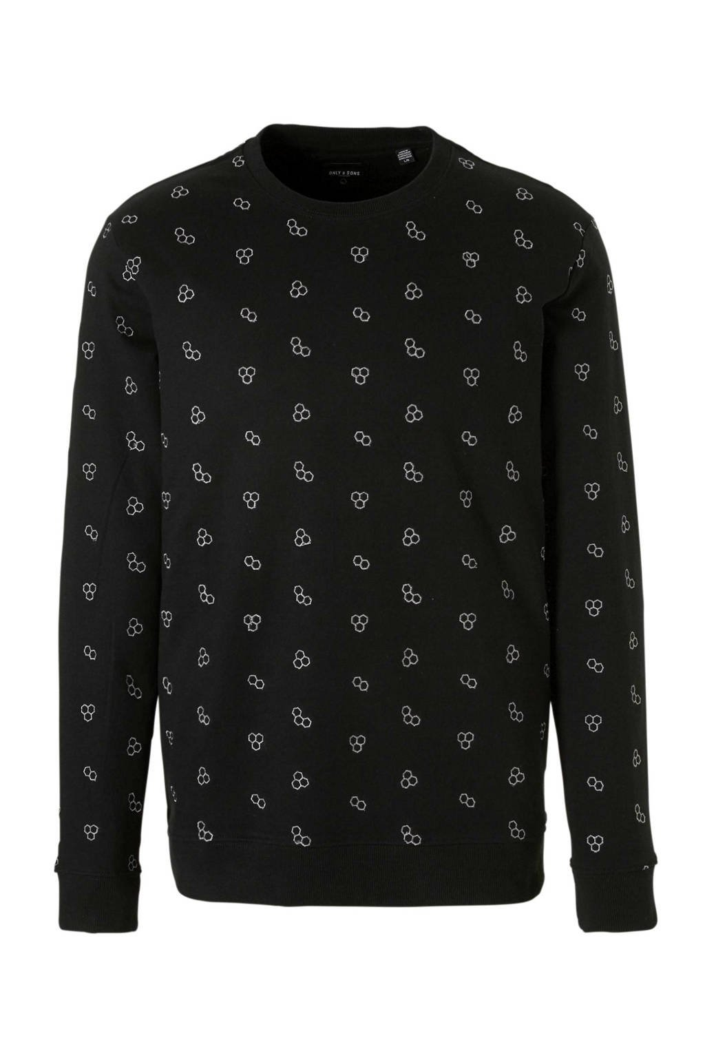 Only & Sons sweater, Zwart