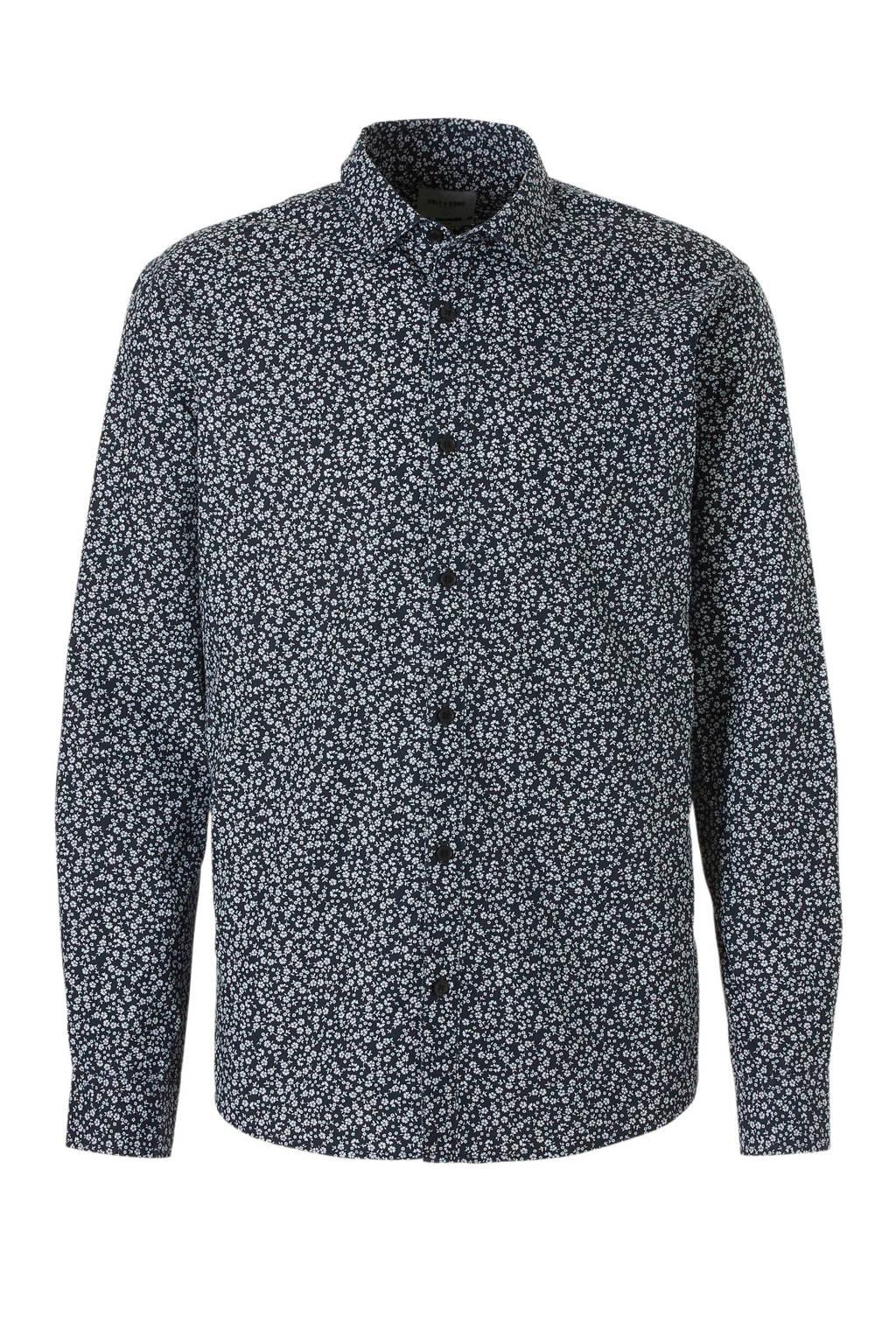 Only & Sons slim fit overhemd, Zwart