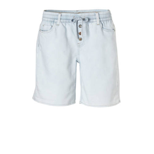 Geisha slim fit denim short blauw