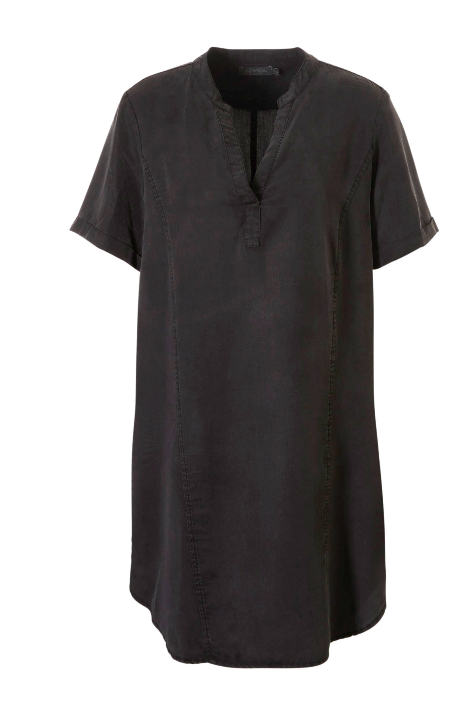 zwarte tuniek lange mouw