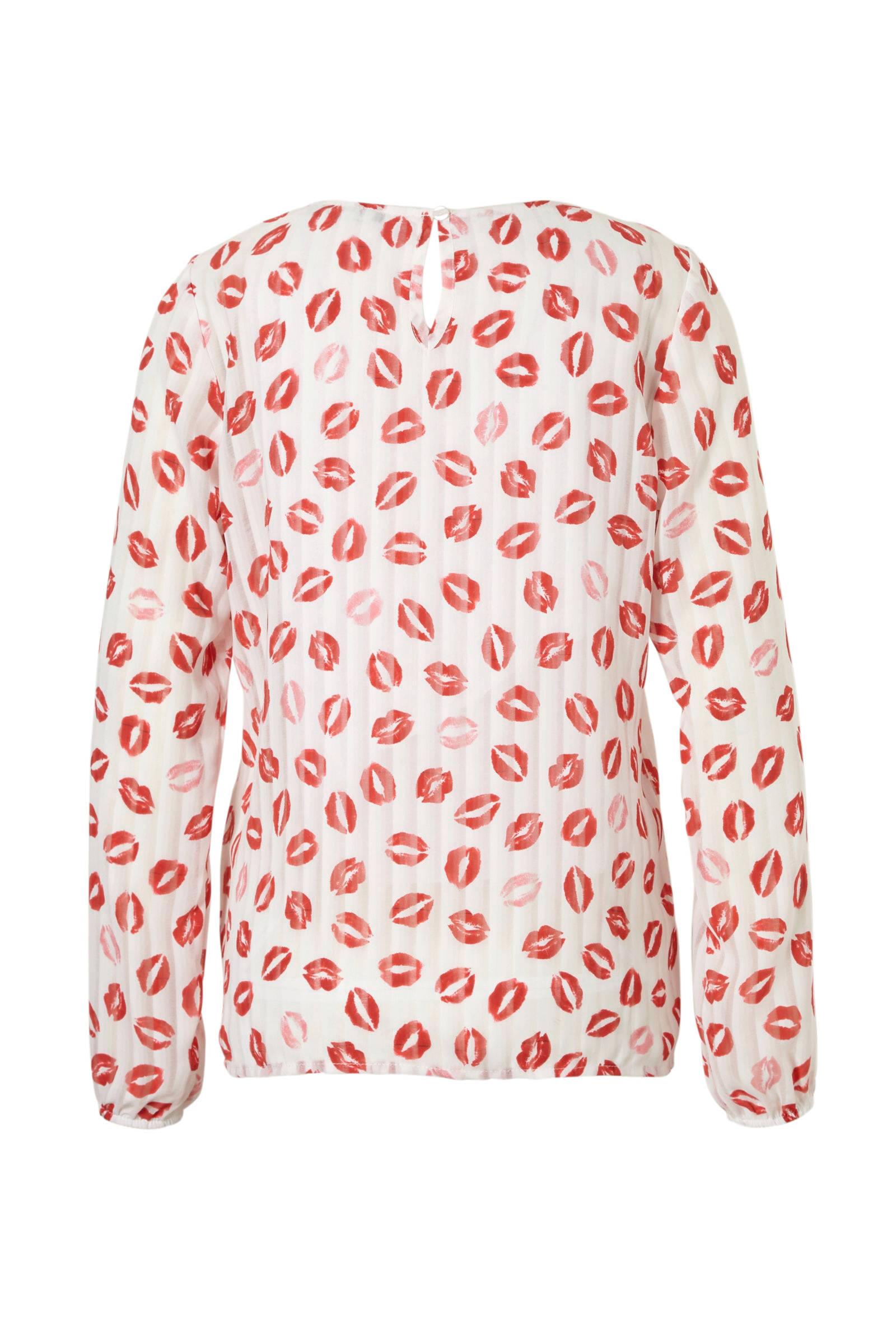 blouse Geisha Geisha met kusjes Geisha kusjes blouse blouse met OYYABFq