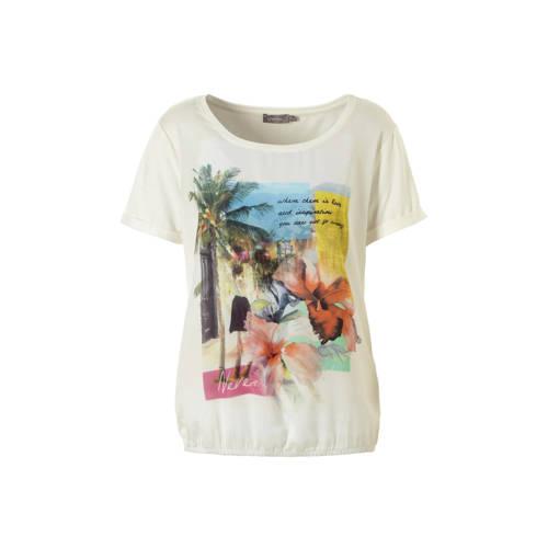 Geisha T-shirt met opdruk wit kopen