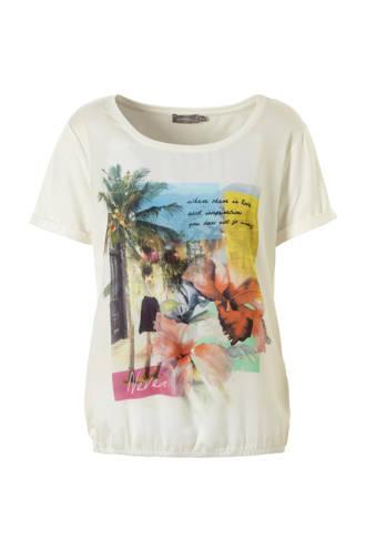 T-shirt met opdruk wit