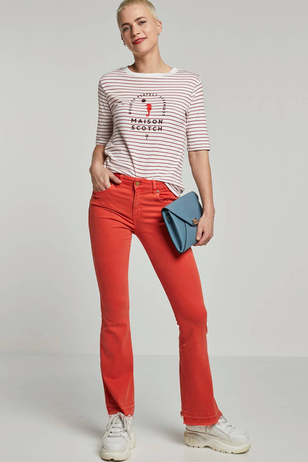Lois flared jeans oranje, Oranje