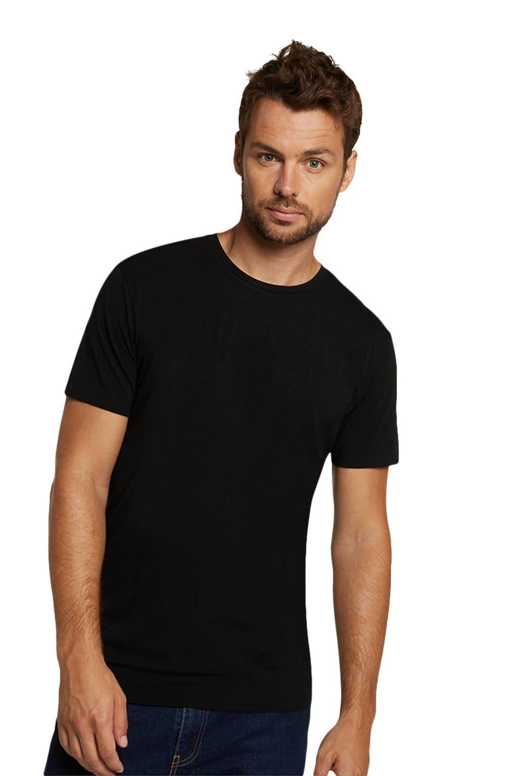 Bamboo Basics T-shirt Ruben met bamboe (set van 2) zwart, Zwart