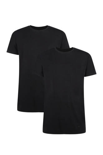 T-shirt Ruben met bamboe (set van 2) zwart