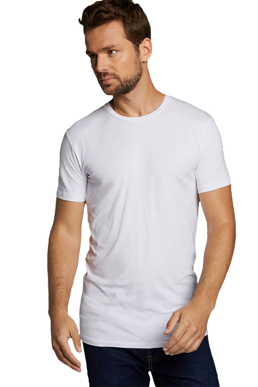 Bamboo Basics T-shirt Ruben met bamboe (set van 2) wit, Wit