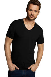 Bamboo Basics T-shirt Velo met bamboe (set van 2) zwart, Zwart