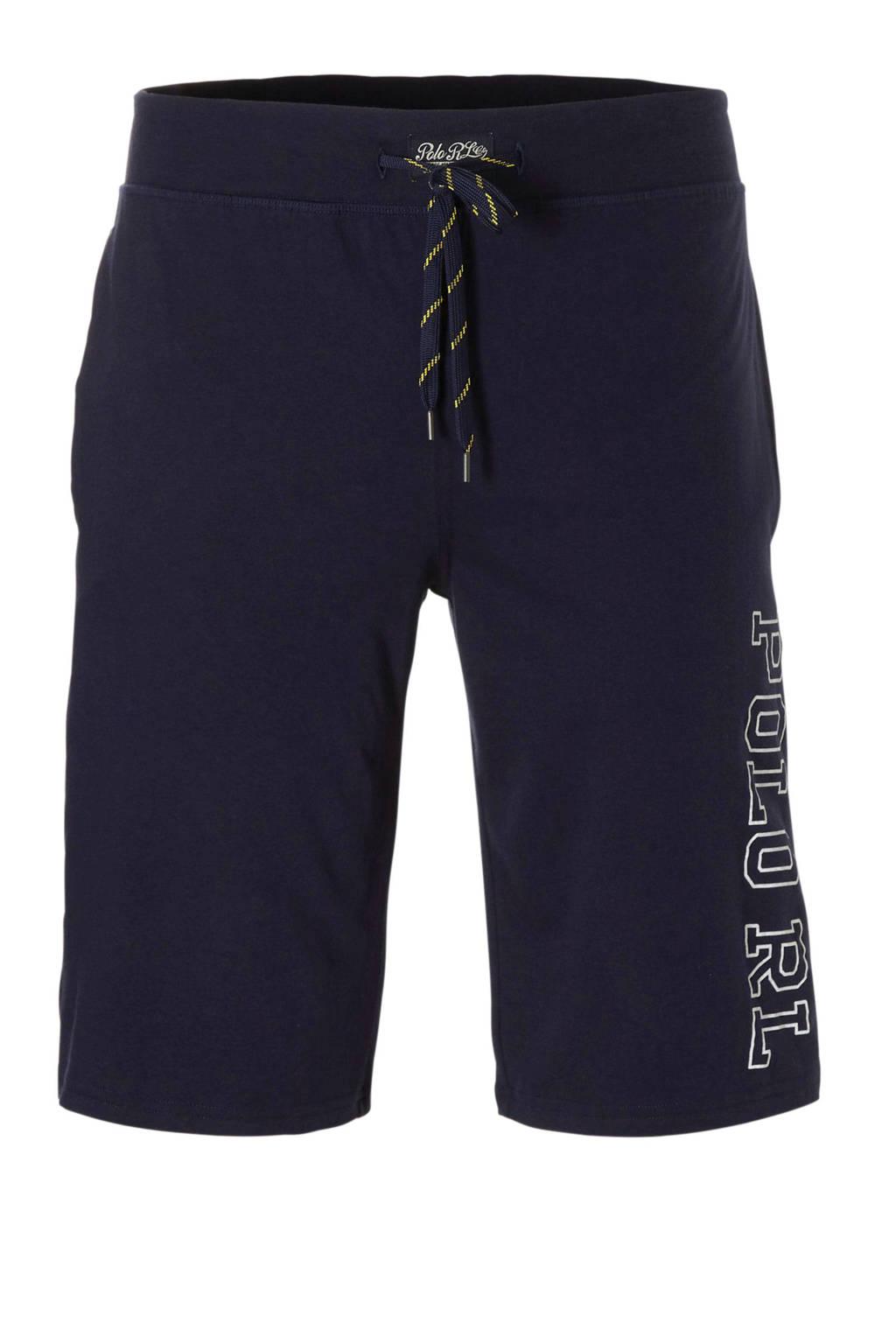 POLO Ralph Lauren pyjamashort met merknaam marine, Marine
