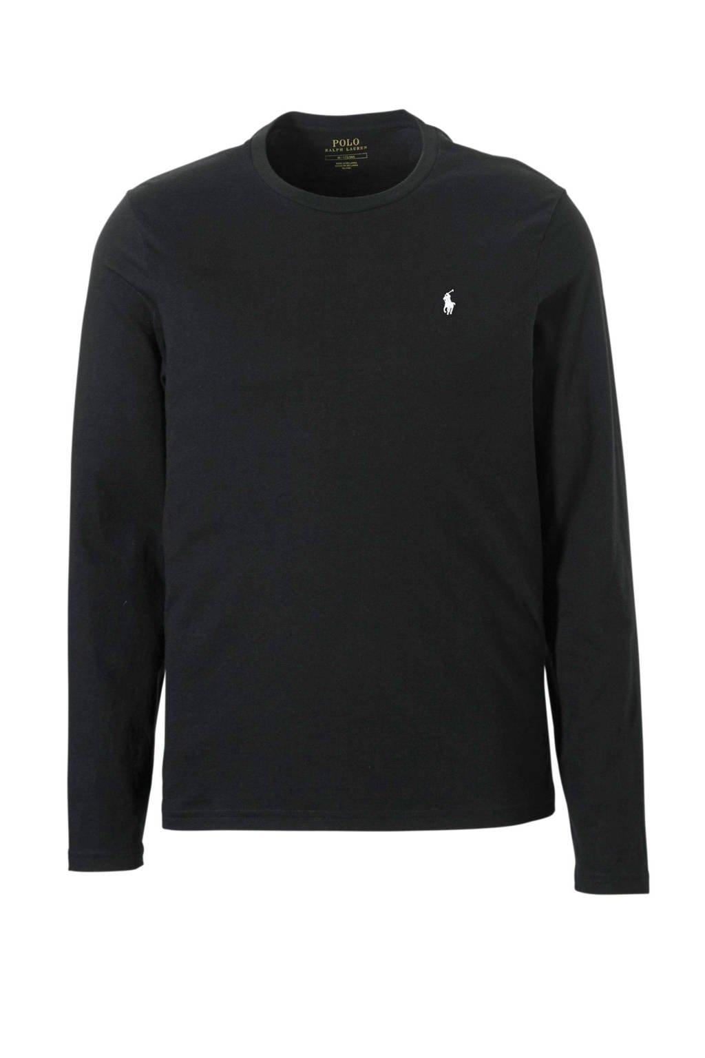 POLO Ralph Lauren T-shirt met lange mouwen zwart, Zwart