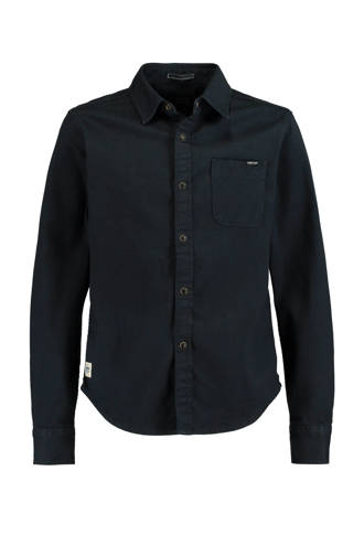 denim overhemd donkerblauw