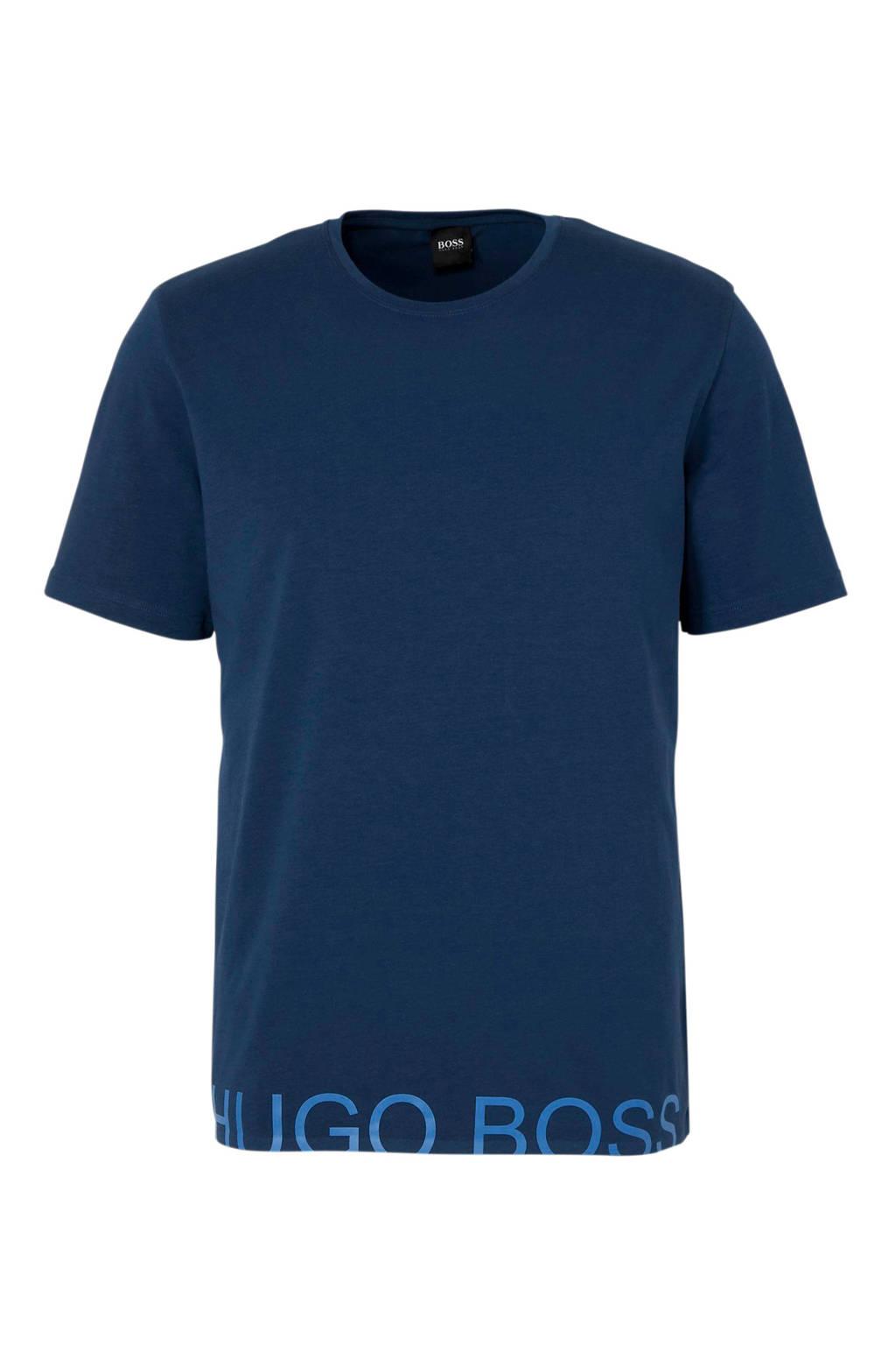 Boss T-shirt blauw, Blauw