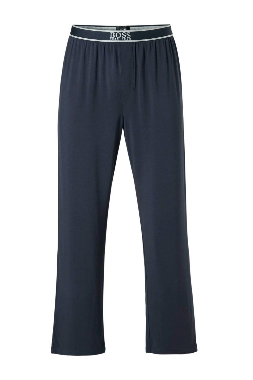 Boss pyjamabroek met modal blauw, Blauw