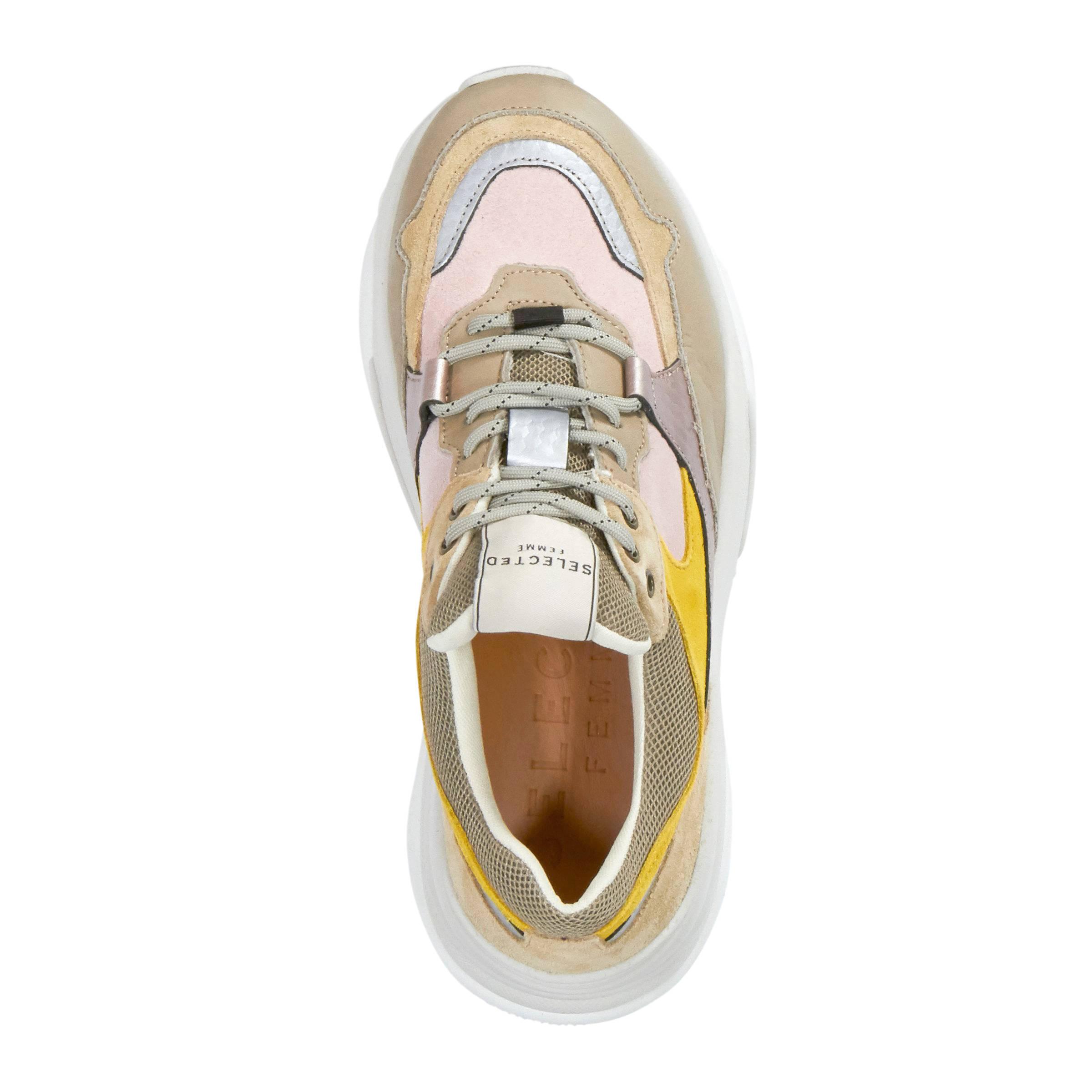 7b663f027f2 SELECTED FEMME SLFGavina Trainer B leren sneakers | wehkamp