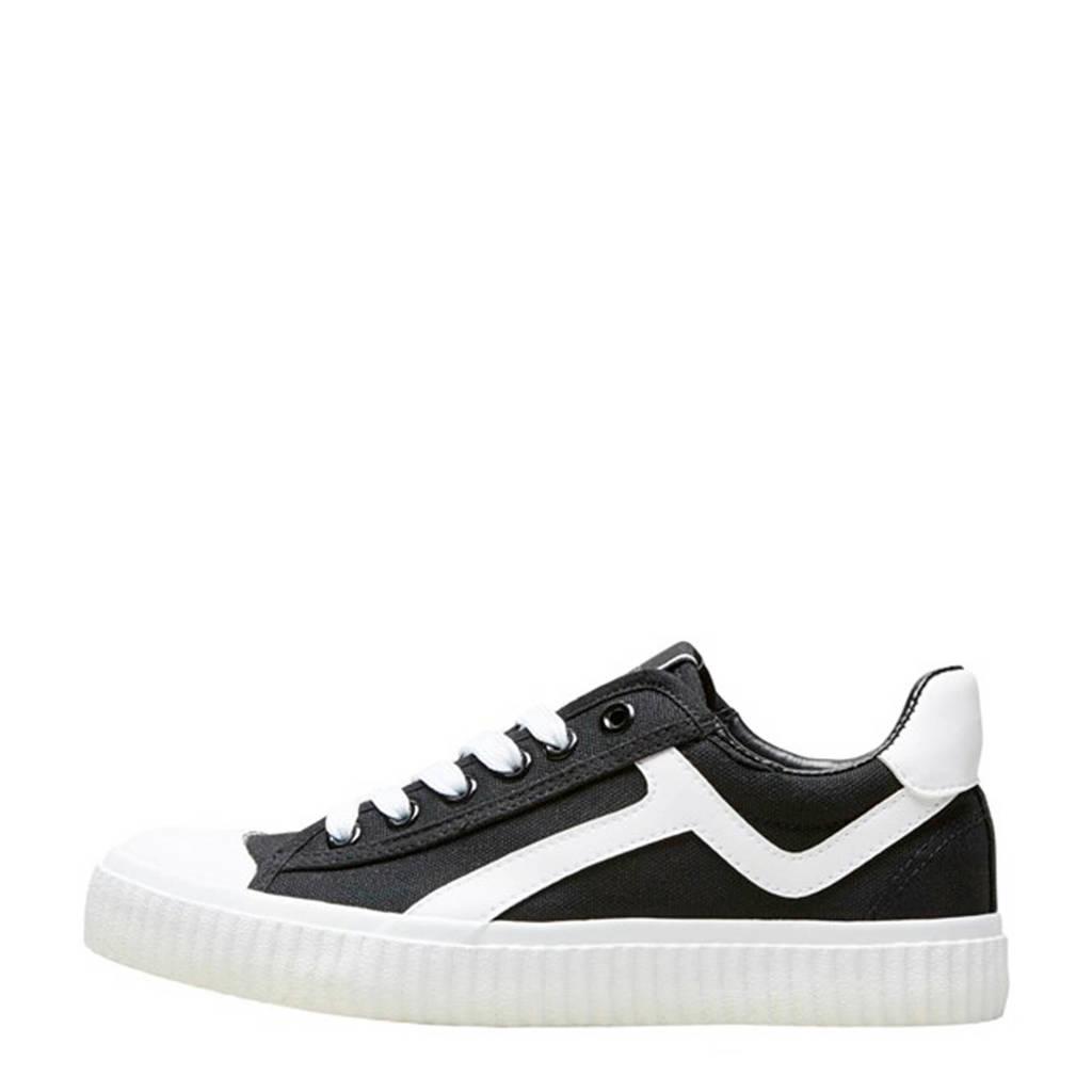 SELECTED FEMME  sneakers zwart/wit, Zwart/wit