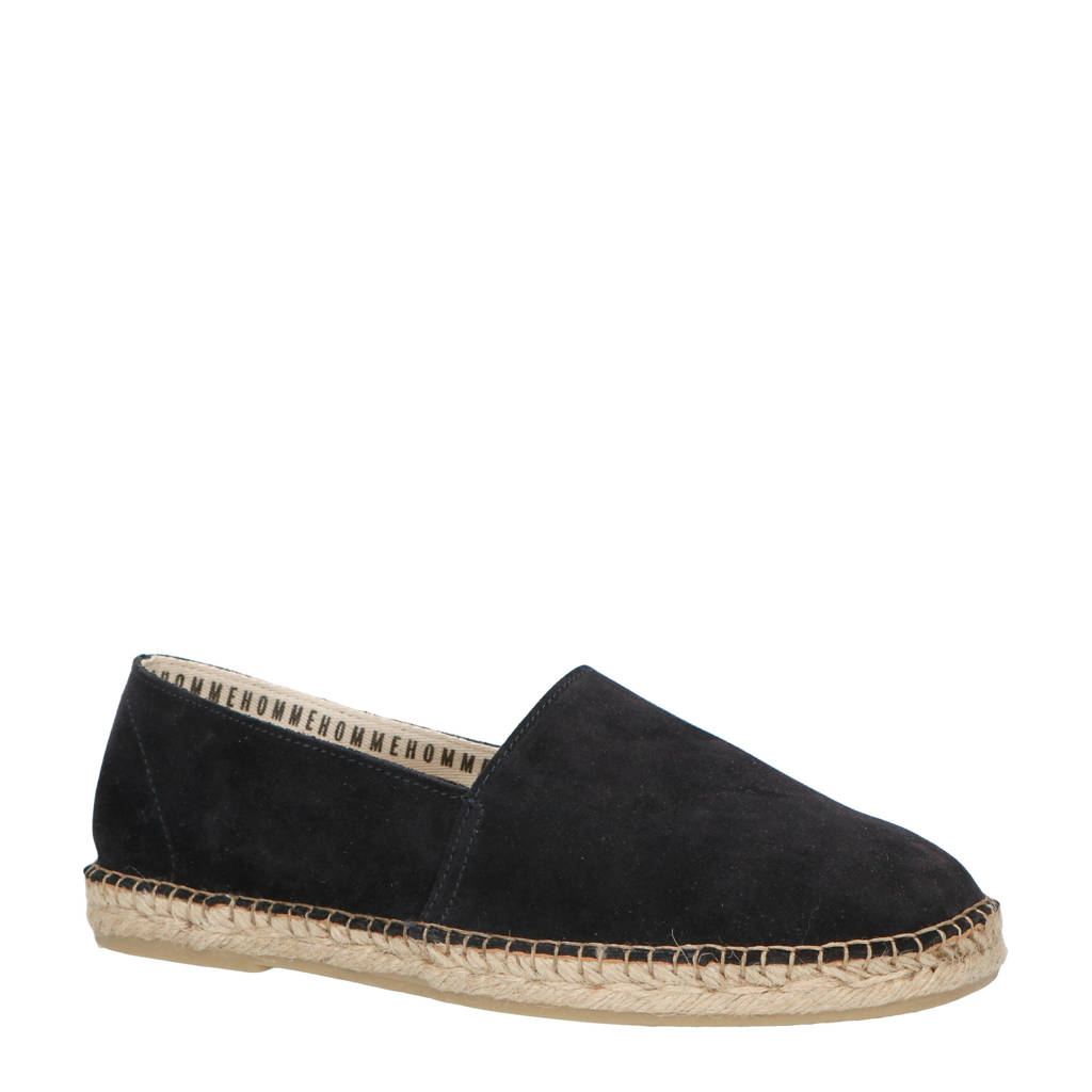 SELECTED HOMME suède espadrilles donkerblauw, Donkerblauw