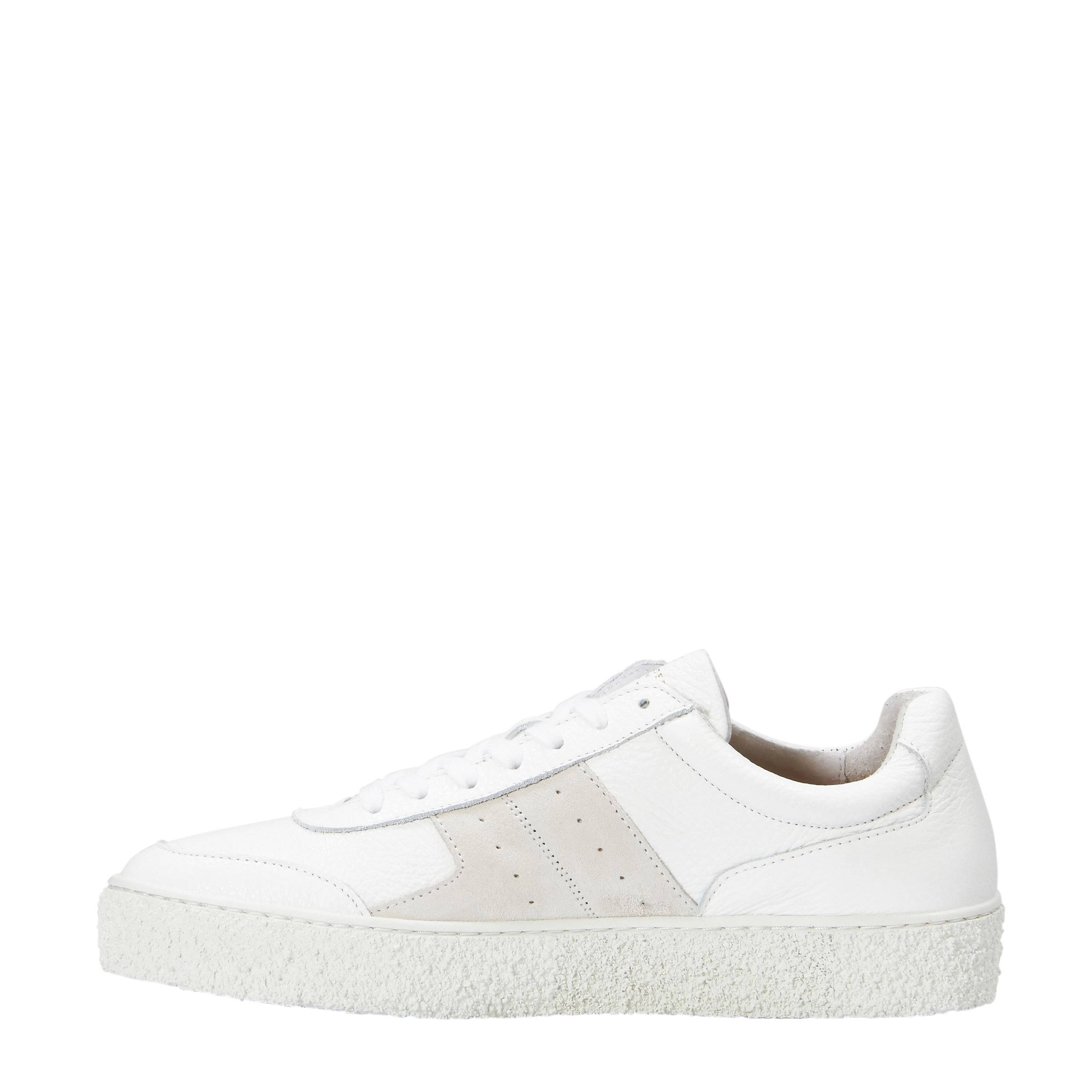 5240c0d423bd12 SELECTED FEMME SLFDINA Leather Trainer B sneakers wit | wehkamp