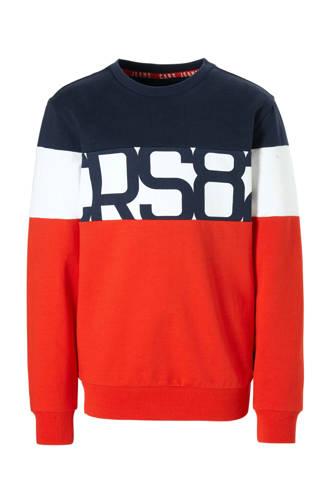 sweater Alcamo met tekst rood