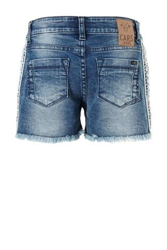 jeans short Medley met zijstreep