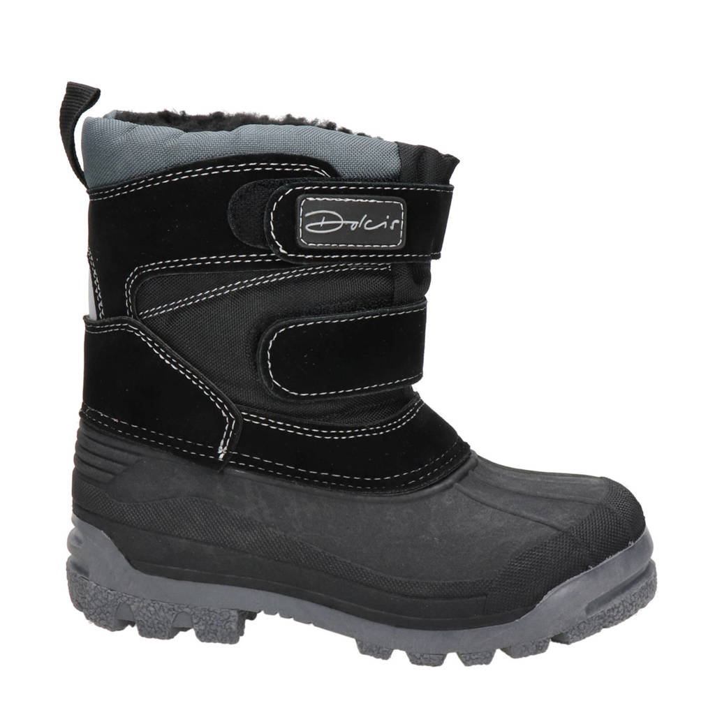 Hobb's   snowboots zwart kids, Zwart