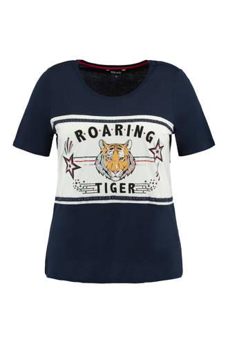 T-shirt met print opdruk Marine