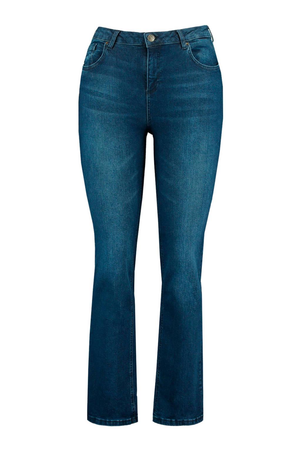 MS Mode straight fit jeans dark denim, Dark denim