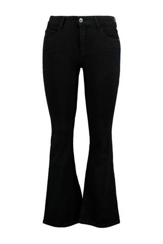 flared fit jeans zwart