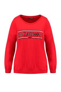 MS Mode trui met tekst rood (dames)