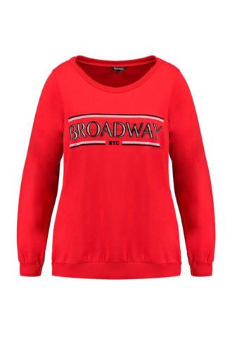 trui met tekst rood