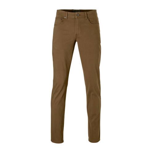 C&A Angelo Litrico slim fit broek met print bruin