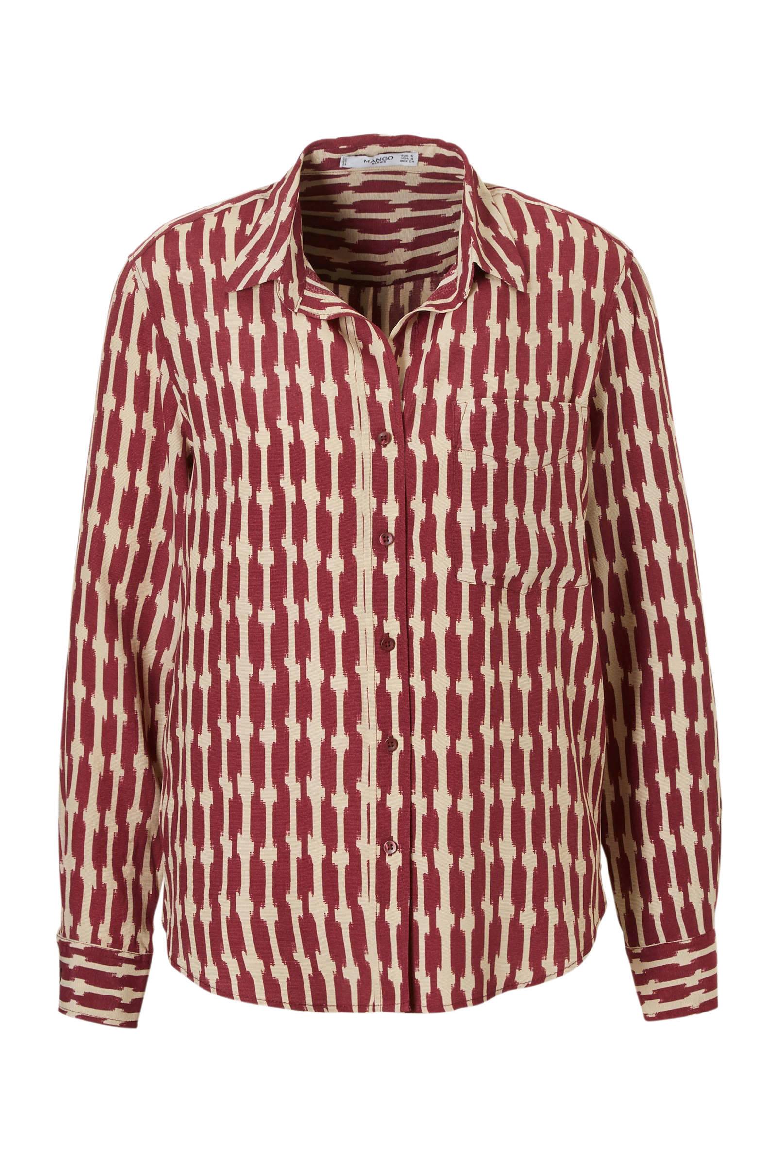 met textuur blouse bordeaux Mango textuur met blouse Mango dRqZdw