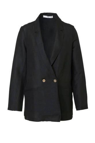 linnen blazer zwart