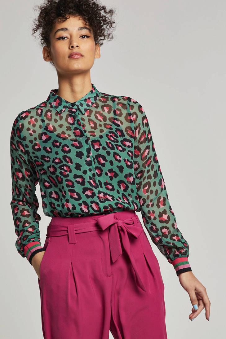 panterprint blouse met Geisha Geisha blouse UWP71Iw