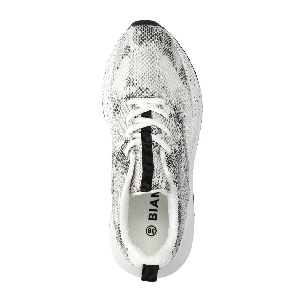 Met Sneakers Bianco Bianco Sneakers Slangenprint Met nqqIUv