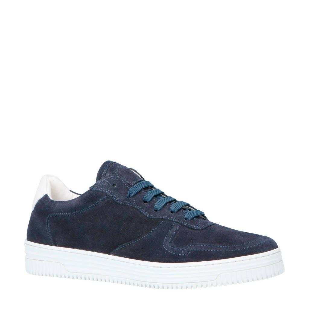 Bianco  suède sneakers donkerblauw, Donkerblauw