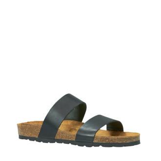 Betricia Twin Strap slippers zwart