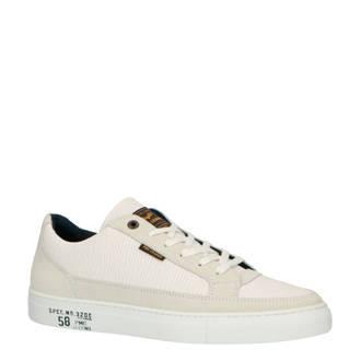 Trim leren sneakers wit