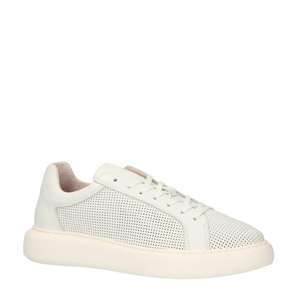Bianco  leren sneakers wit, Wit